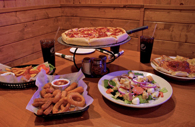 pizza and sides